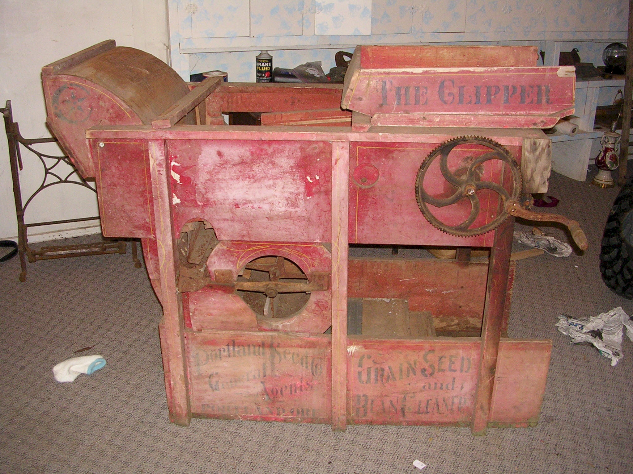 The Clipper Seed Cleaner Treadle Operated